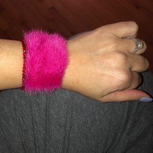 Fendi Jewelry - Fendi silver pink haired cuff ⭐️RARE Runway pc⭐️
